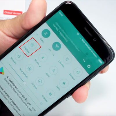 imprimir-pantalla-menu-superior-Xiaomi