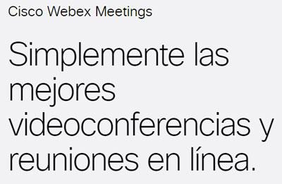 Reuniones de Cisco Webex