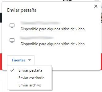 chromecast compartir pantalla pc
